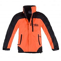 Kids Gorak Shep Unisex Outershell Jacket - Orange / Black Front