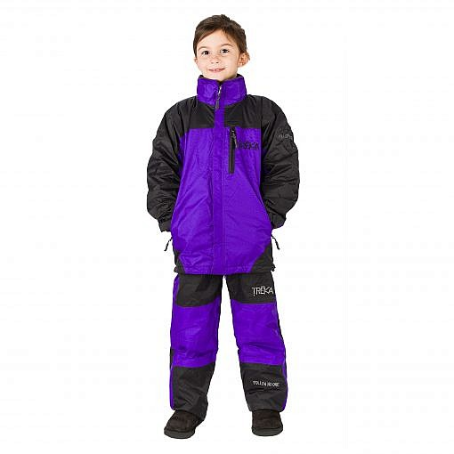 Kids Unisex Gorak Shep Outershell Jacket and Pants - Purple / Black Model