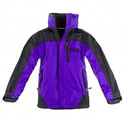 Kids Gorak Shep Unisex Outershell Jacket - Purple / Black Front
