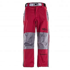 Kids Unisex Gorak Shep Outershell Pants - Burgundy / Grey Front