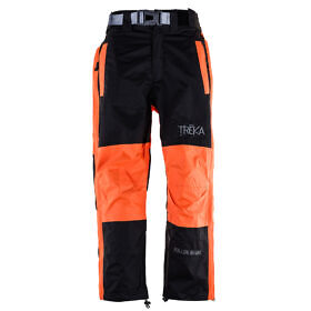 Kids Unisex Gorak Shep Outershell Pants - Orange / Black Front