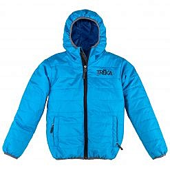 The Lukla Kids Unisex Insulated Jacket - Blue Front
