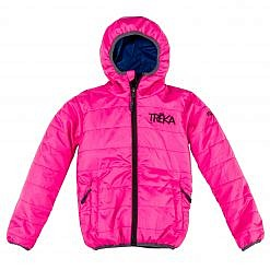 The Lukla Kids Unisex Insulated Jacket - Pink Front