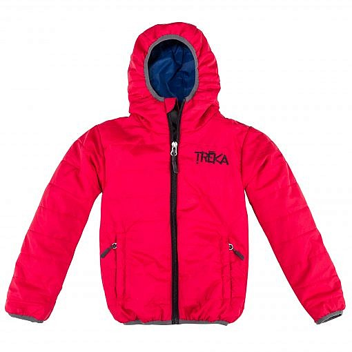 The Lukla Kids Unisex Insulated Jacket - Red Front