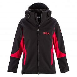 The Kalapattar Men's Windproof Jacket - Black / Red Front