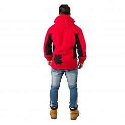 The Kalapattar Men's Windproof Jacket - Red / Black Model Back