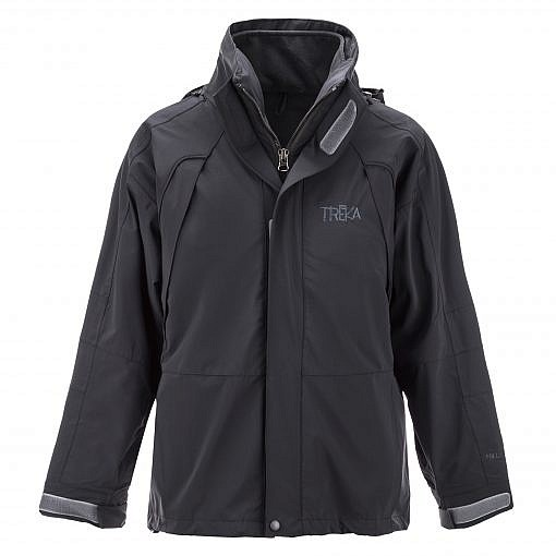 The Namche Men's 3 in 1 Snow Jacket - Black Front
