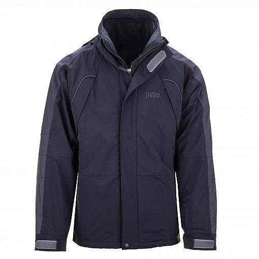 The Namche Men's 3 in 1 Snow Jacket - Blue / Black Front