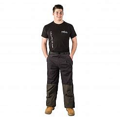 The Namche Men's Snow Pants - Green / Black Model Front