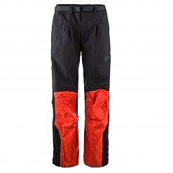 The Namche Men's Snow Pants - Orange / Black Front