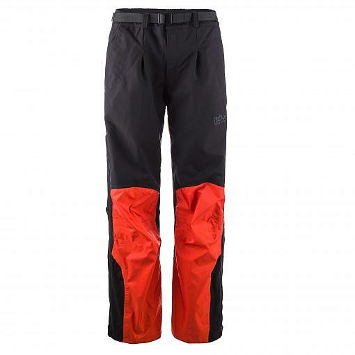 The Namche Men's Snow Pants - Orange / Black Front