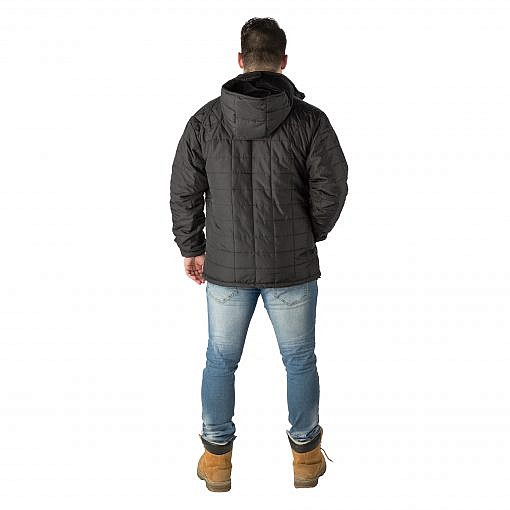 The Pumori Men's Insulated Jacket - Black Model Back