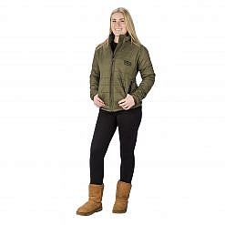 The Pumori Women's Insulated Jacket - Green Model Front