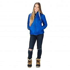 The Pumori Women's Insulated Jacket - Royal Blue Model Front