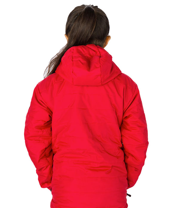 back view of girl wearing jacket