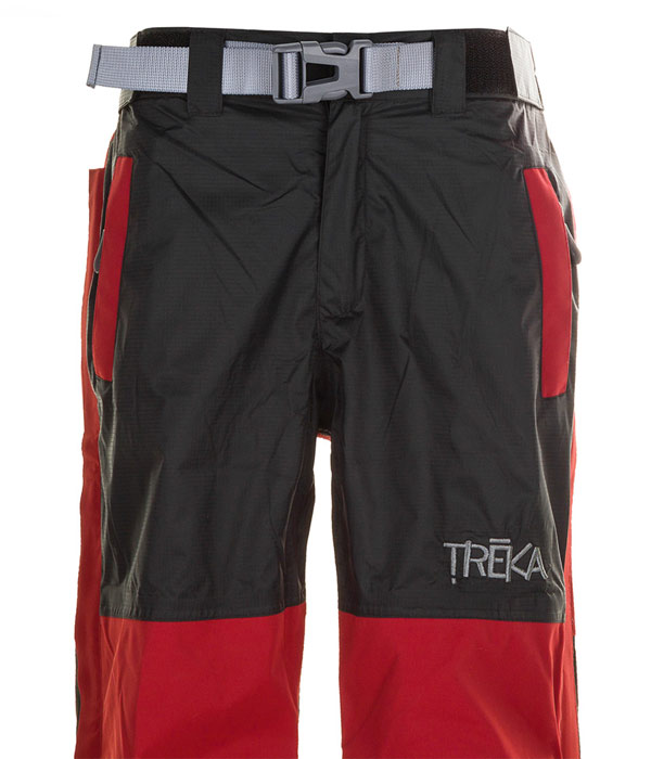 closeup view of top of pants