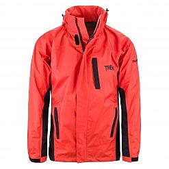 Men's Dingboche Rain Jacket - Orange / Black Front