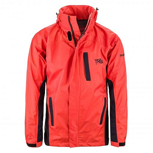 Men's Dingboche Rain Jacket - Orange / Black Front