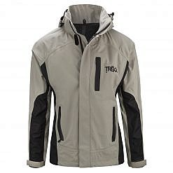 Men's Dingboche Rain Jacket - Taupe / Black Front