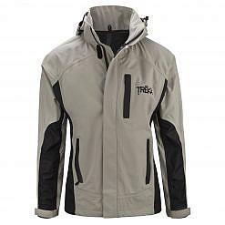 Men's Dingboche Rain Jacket - Taupe / Black Front
