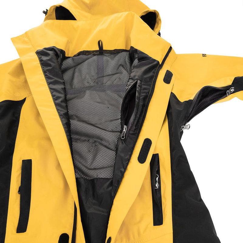Men's Dingboche Rain Jacket - Yellow / Black Detail