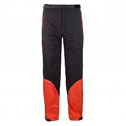 Men's Dingboche Rain Pants - Orange / Black Front