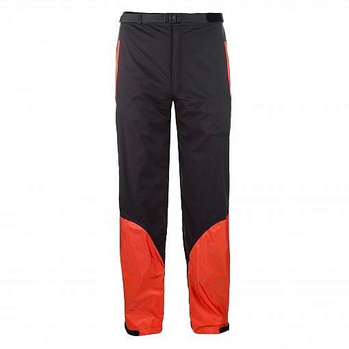 Men's Dingboche Rain Pants - Orange / Black Front