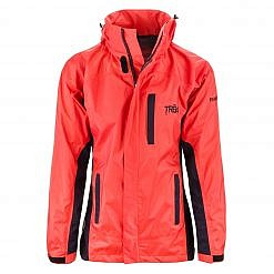 Women's Dingboche Rain Jacket - Orange / Black Front