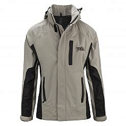 Women's Dingboche Rain Jacket - Taupe / Black Front