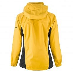 Women's Dingboche Rain Jacket - Yellow / Black Back
