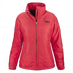 Women's Khumbu 100 GSM Insulated Jacket - Red Front