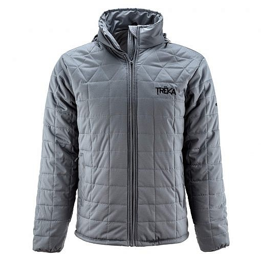 Men's Pumori Insulated Jacket Grey Checked Front