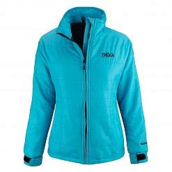 Women's Spring Fall Jacket Khumbu 100 GSM Insulated Jacket - Aqua Blue Front