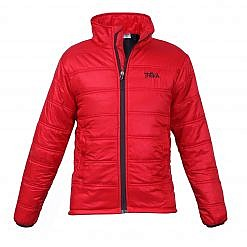 Men's Deusa 150GSM Insulated Jacket - Red - Front View