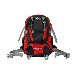 Treka 25 Litre Backpack - Red / Black - Front View