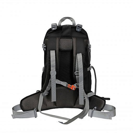 Treka 40 Litre Backpack - Grey and Black - Back View