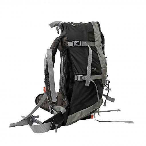 Treka 40 Litre Backpack - Grey and Black - Side View
