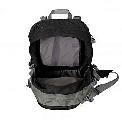 Treka 40 Litre Backpack - Grey and Black - Top View