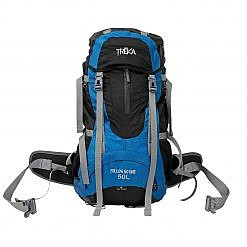 Treka 50 Litre Backpack - Blue and Black - Front View