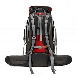 Treka 90 Litre Backpack - Red and Black - Back View