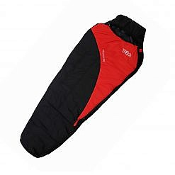 Treka Extreme Sleeping Bag - Red and Black - Front View