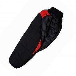 Treka Extreme Sleeping Bag - Red and Black - Open View