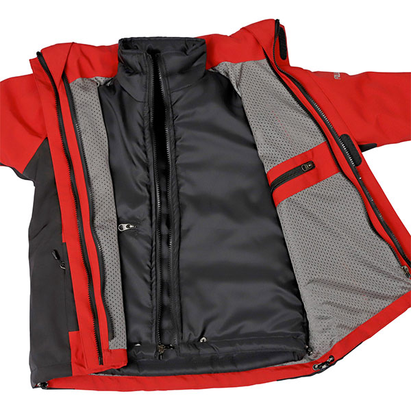 Unzipped View of Jacket with Inner Layer Visible