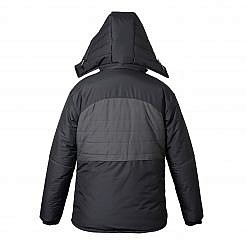 Treka Men's Third Pole Parka 500 - Black and Grey - Back View