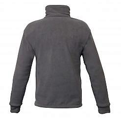 Men's Pokhara Reversible Black and Grey Fleece Jacket 200GSM - Grey Back View