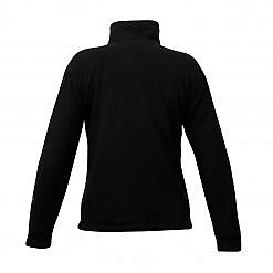 Men's Pokhara Reversible Black and Red Fleece Jacket 200GSM - Black Back View