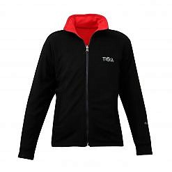 Men's Pokhara Reversible Black and Red Fleece Jacket 200GSM - Black Front View