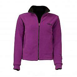 Women's Pokhara Reversible Black and Purple Fleece Jacket 200GSM - Purple Front View