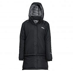 Treka Women's Third Pole Parka 550 GSM- Black and Grey - Front View