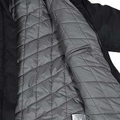 Treka Women's Third Pole Parka 550 GSM- Black and Grey - Inside View